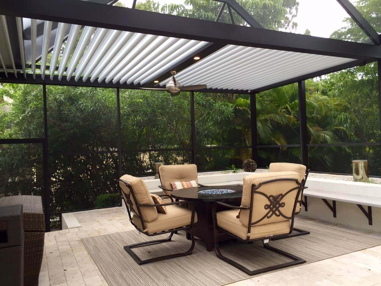 Adjustable Louvered Roof