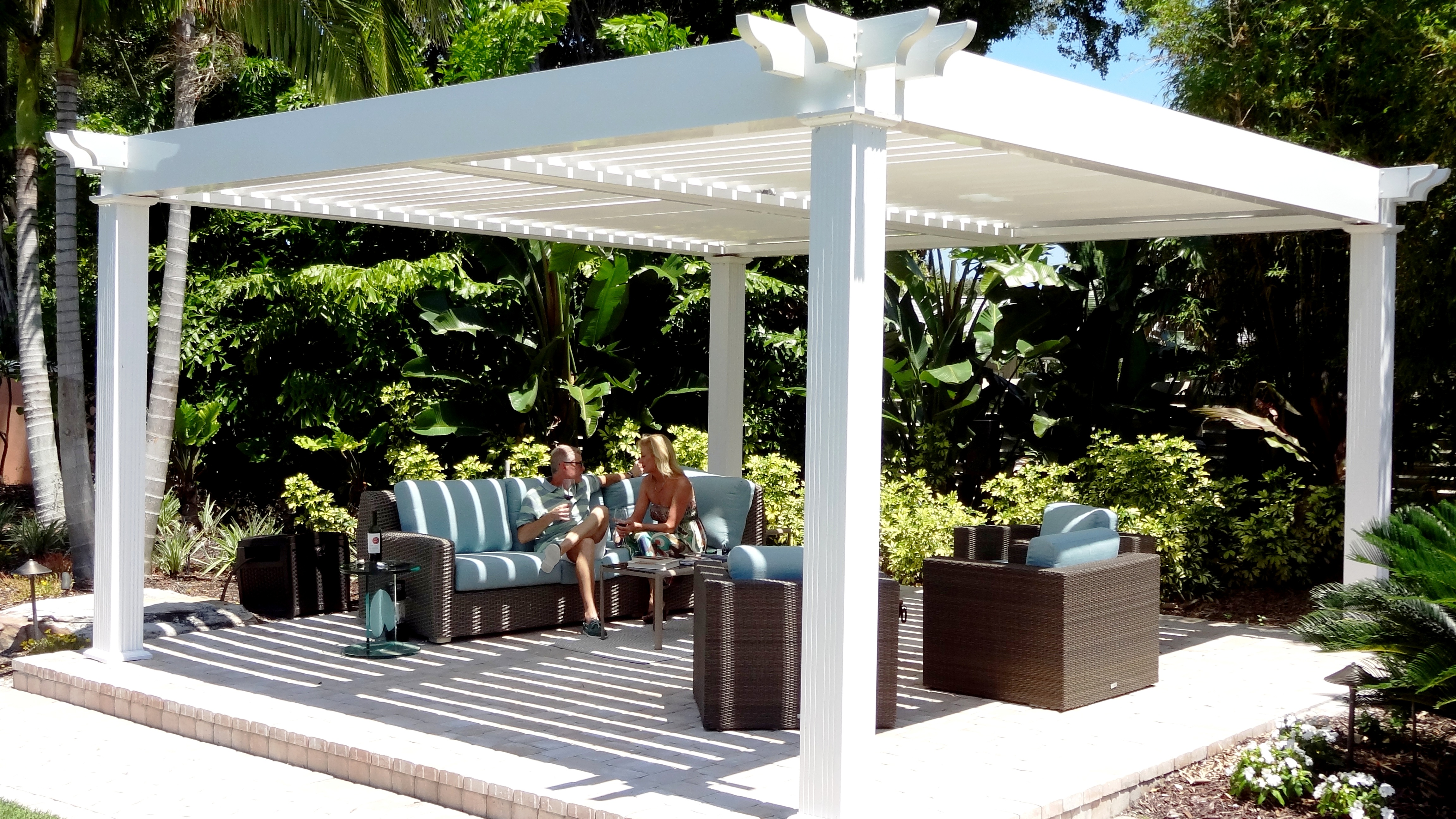 Backyard Pergola Sarasota Adjustable Absolute Aluminum